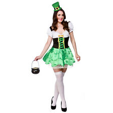 LADIES CHEEKY LEPRECHAUN ST PATRICK'S SEXY IRISH FANCY DRESS COSTUME XS-XL PLUS