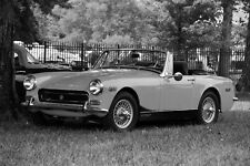 Poster of MG Midget HD Classic British Sports Car B&W Print