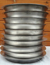 """PACK OF 10  IRON PIZZA PANS 1.5"""" FOR DEEP PAN PIZZA PROFESSIONAL QUALITY"""