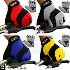 Men Cycling Gloves Bike Half Finger Bicycle Gel Silicone Fingerless Sports New