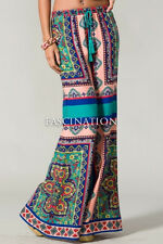 NWOT FLYING TOMATO Vintage Style Bohemian Printed Wide Palazzo Pants S-M-L NEW