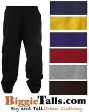 Big and Tall 5 Pockets Cargo Sweatpants 3X 4X 5X 6X