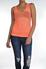 Sexy fishnet casual racer back TANK top Nylon Blend stretch coverup 1 SZ  Solid*