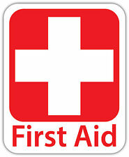First AID Vinyl Sticker Decal Sign *4 SIZES* Red Cross Health Safety