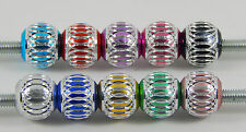 10 - 20 ALUMINIUM LANTERN BEADS SPACERS 12mm  VARIOUS COLOURS EUROPEAN BRACELET