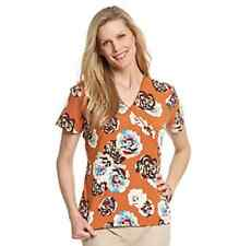 Breckenridge Harvest Blooms Tunics/NWT/Orange w/ Flowers/Various Sizes
