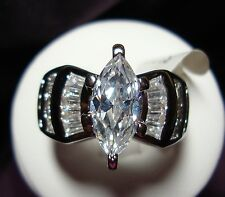 Stunning MARQUISE CUT 3.38 carats CZ Engagement & Wedding Ring Size 6 to10