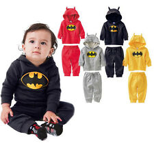 1 Boys Baby Fancy Cartoon Hooded Casual Sporty TOP + Pants 2pcs Outfits