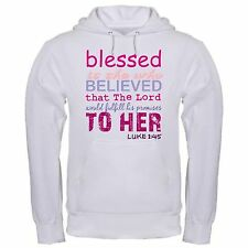 BLESSED SHE WHO BELIEVED LORD PROMISES HER CHRISTIAN FULFILL BIBLE hoodie hoody