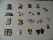 Various Embroidered Cute Animal Motifs/Embellishments/Toppers - List 1