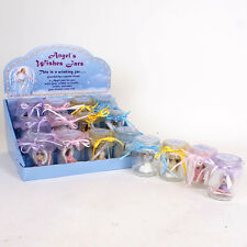 Magical Angel Wishes Jar With Pretty Angel Figurine, Scrolls and Instructions