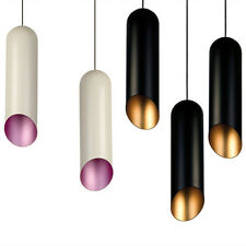 New White Or Black Ceiling Lamp Tom Dixon Pipe Pendant Light Chandeliers Fixture
