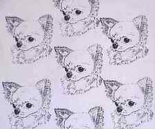 CHIHUAHUA LONG COATED CRAFT FABRIC NEW COLORS