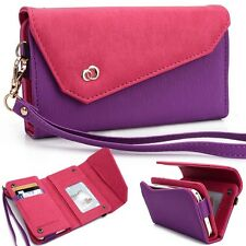 Smartphone Wristlet Wallet Cover Pouch for Samsung Galaxy S - Purple