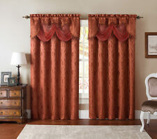 Kasbah Clipped Jacquard Panels & Valances By Victoria Classics - Assorted Colors