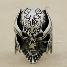King Vampire Demon 316L Stainless Steel Skull Mens Biker Rocker Punk Ring 7M001C