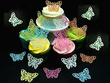 20 x (XL) MOTHERS DAY BUTTERFLIES FAIRY CUP CAKE EDIBLE RICE WAFER PAPER TOPPERS
