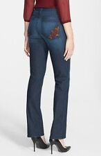 NYDJ Not Your Daughters Jeans MARILYN Dana Point Straight leg embroidered pocket