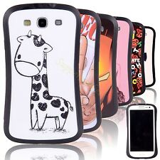 For Samsung Galaxy S3 III I9300 Cute Rugged Rubber Case Cover Screen Protect+Pen