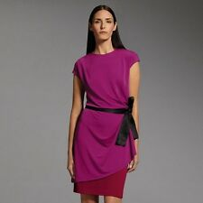 Narciso Rodriguez DesigNation Colorblock Dress Mulberry Burgundy XL NWT