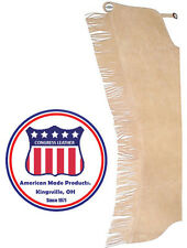Trim Line Western double concho show chap with fringe by Congress Leather