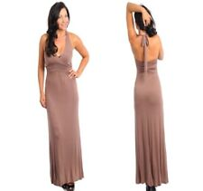 LD6 New Womens Wedding Cocktail Evening Spring Party Long Maxi Halter Chic Dress