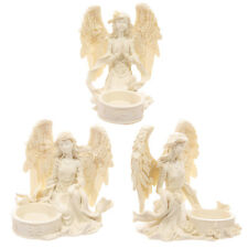 Cream Angel Tea Light Candle Holder Figurine Ornament -  10cm - NEW