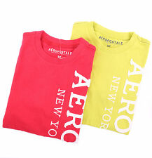 Aeropostale Men Short Sleeve Vertical Aero 87 Graphic T-Shirt Style 7595 $0Ship