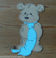 Bear Die Cuts - Scamp Daddy Bear with Tie - Fathers Day - Toppers - Cardmaking