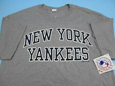 NEW YORK YANKEES SS T-SHIRT GREY OFFICIALLY LICENSED QUALITY NY *BRAND NEW* MLB
