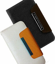 IPhone 5 5G Leather Flip Wallet Case Cover Pouch Table Talk NEW