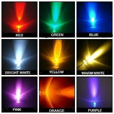 Super Bright LEDs 3mm 5mm Red,Yellow,Orange,Blue,White,​Green,Pink,WarmWhite,U/V