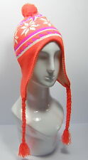 NEW Nepalese/Winter/Ski Style Hats Wool Blend Fleece Lined NEON Ladies Mens