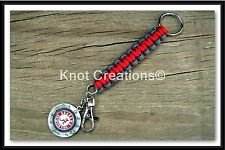 NCAA Paracord Key Fob with an Officially Licensed Collegiate Logo Medallion