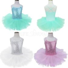 Girls Kids Dancewear Ballet Dance Dress Tutu Leotard Skirt Party Costume SZ 4-7