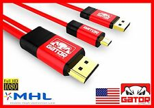 MHL Micro USB to HDMI Cable Adapter HDTV Samsung Galaxy S3 S4 S5 S6 Note 2 HTC