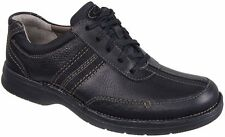 CLARKS SLONE MENS  BLACK OILY LEATHER STYLE # 82470