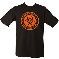 ZOMBIE OUTBREAK RESPONSE TEAM T-SHIRT 100% COTTON APOCALYPSE MENS CLOTHING TOP