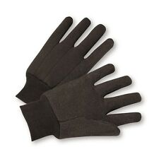 Brown Cotton Jersey Outdoor and Work Gloves, Lot of 1, 6, 12, or 24 Pairs