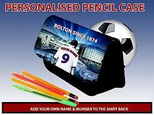 PERSONALISED BOLTON WANDERERS UNOFICIAL PENCIL GLASSES CASE GAMES CARRIER DS BAG
