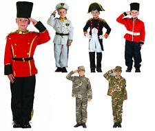 Boys Kids Military Fancy Dress Army Camouflage Toy Soldier Navy Napoleon Age4-14