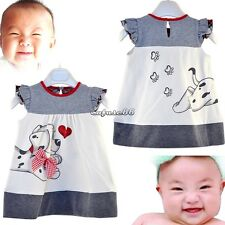 1pc Baby Toddler Girl Kid Cotton Top Plaids Dress Outfit Clothes Skirt 1-5Y