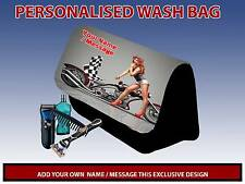 PERSONALISED CUSTOM MOTORCYCLE PENCIL CASE GAMES CARRIER DS TRAVEL BAG MENS DAD