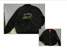 C-130 Military Jet Embroidered MA-1 Youth Green & Black Bomber Flight Jackets