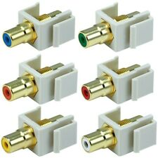 RCA Jack Insert Ivory Audio/Video for Keystone Wall Plate Female Modular