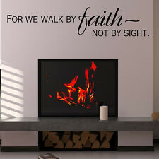 For We Walk By Faith Wall Sticker Religious Wall Decal Art