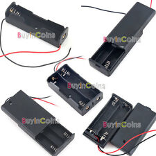 """Plastic Storage Keep Case Holder for Battery 18650 2A 3A with 6"""" Wire Leads Hot"""