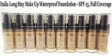 Italia Deluxe Long Stay Make Up Foundation - Waterproof, SPF 15, Full Coverage