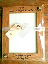Personalised Photo Frame Mum Mam Auntie Aunty Dad Thank you Gift Present