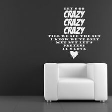 One Direction Wall Sticker Live while Were Young Wall Decal Art